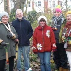 Volunteers planting bluebell bulbs | November 2010